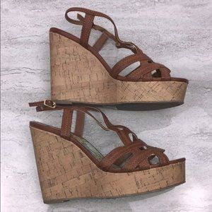MADDEN GIRL Brown Wedge Sandals